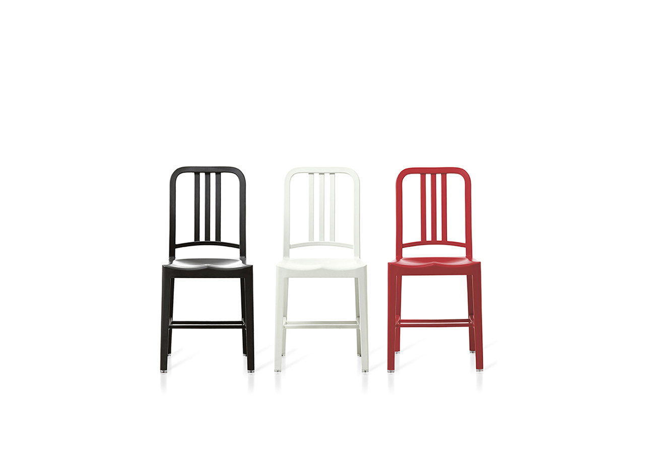 Image of 111 Navy Chair with Coca-Cola