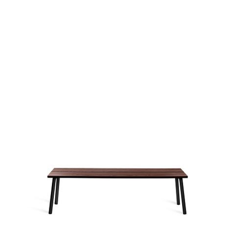 RUN 3-SEAT BENCH, BLACK LEGS