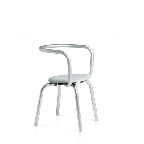 PARRISH SIDE CHAIR RECLAIMED POLYPROPYLENE GREY