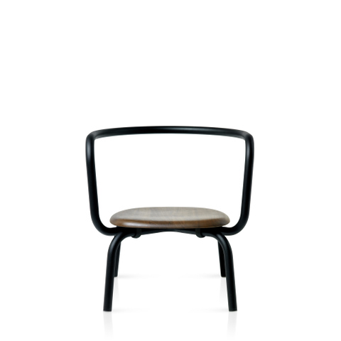 PARRISH POWDER COATED BLACK LOUNGE CHAIR