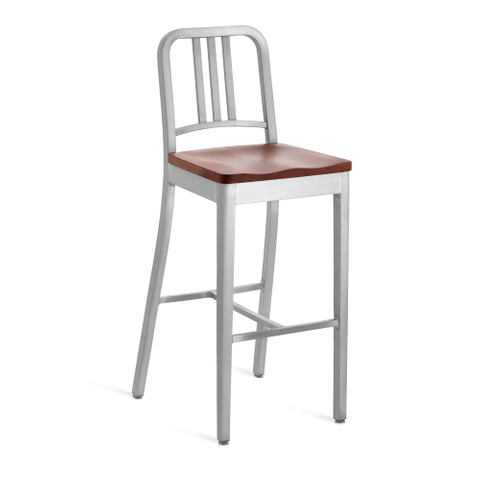 NAVY® BARSTOOL WITH NATURAL WOOD SEAT